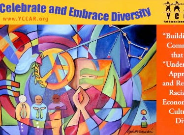 Ophelia Chambliss' art is often applied to posters and brochures. This artwork, from about a decade ago, is meant to symbolize and promote peace, hope, justice and equality.