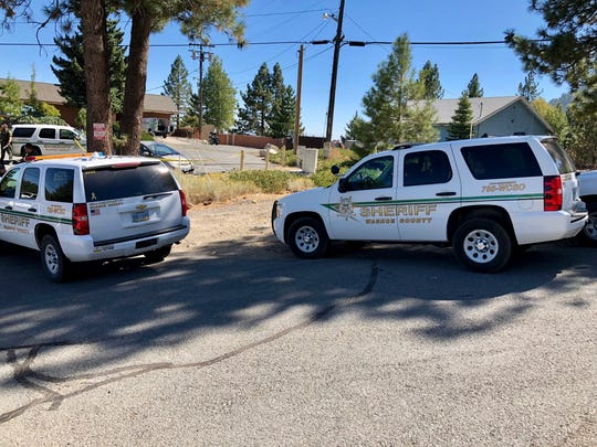 Washoe County Sheriff's deputies were on the scene where a missing Reno woman's car was found Friday, Sept. 21, 2018 at the Tannenbaum Events Center on Mt. Rose. Search-and-rescue teams were being deployed.