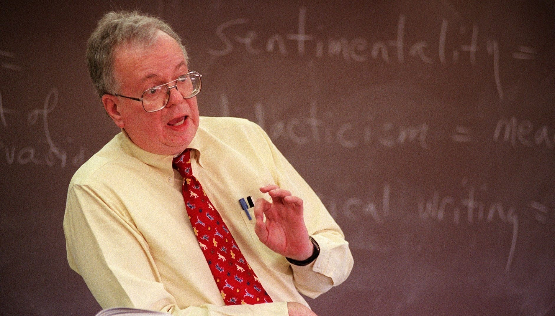 This 1999 photo shows Mel Shields he teaching at McQueen High School..