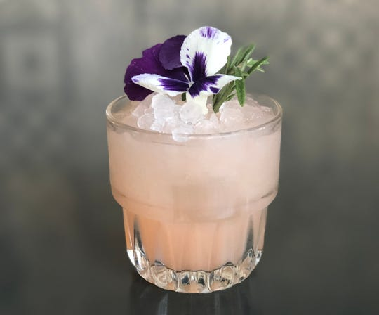The Lazy Daisy cocktail at 1864 Tavern features gin and pinene, an aromatic essential oil found in cannabis and other plants.