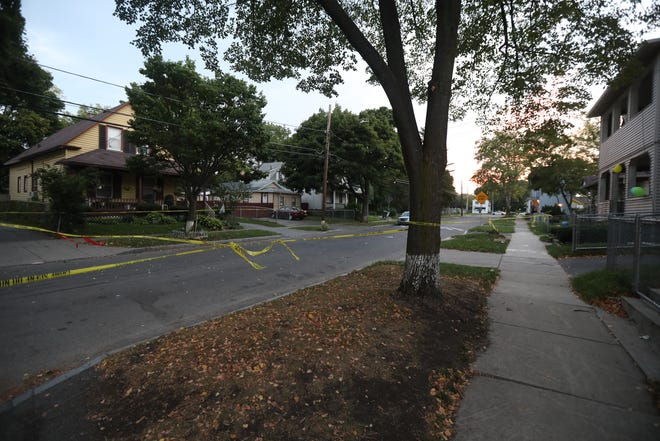 Two men died as a result of their gunshot wounds on Thursday, Sept. 20, 2018.  Police had responded to the 300 block of Wilkins Street near Hudson Street for a report of two men shot outside and learned they had been taken in private vehicles to Rochester General Hospital.