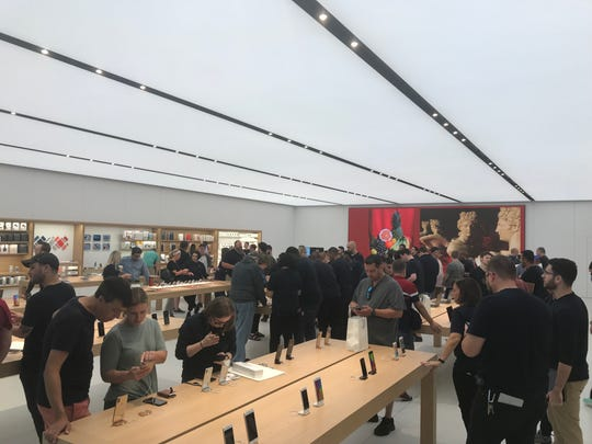 The new Apple store in Eastview Mall.