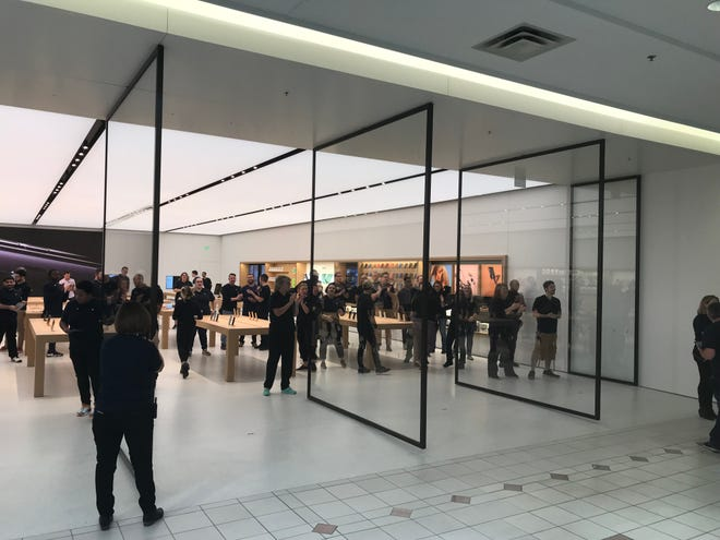 The new Apple store opened its doors Friday at Eastview Mall in Victor.