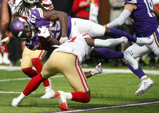 With Dalvin Cook out with an injury, Latavius Murray is expected to be the primary ballcarrier for Minnesota against  the Bills on Sunday.