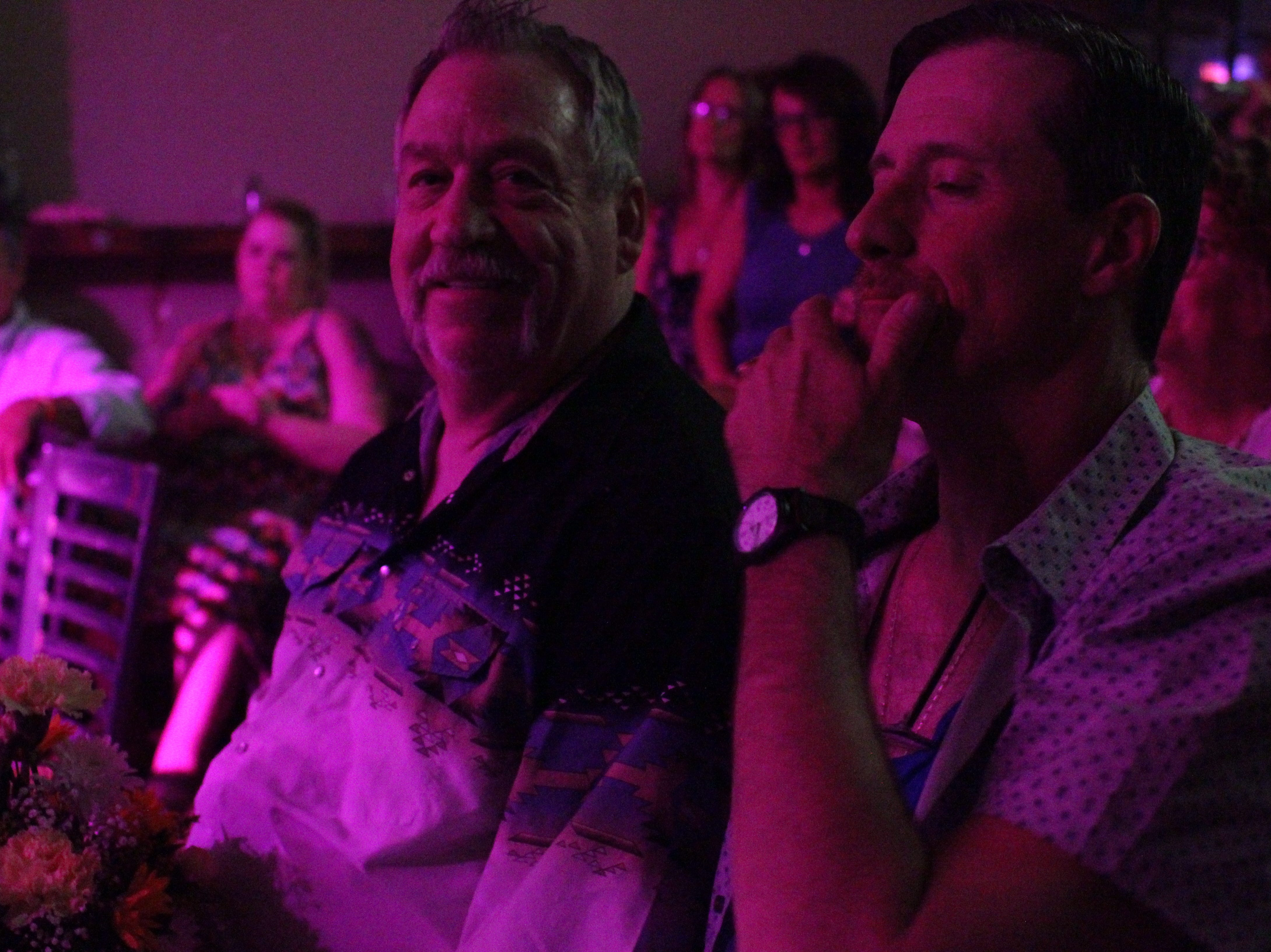 Tom Hinton, 66, was honored at the drag show for his contribution to the LGBTQ+ community.