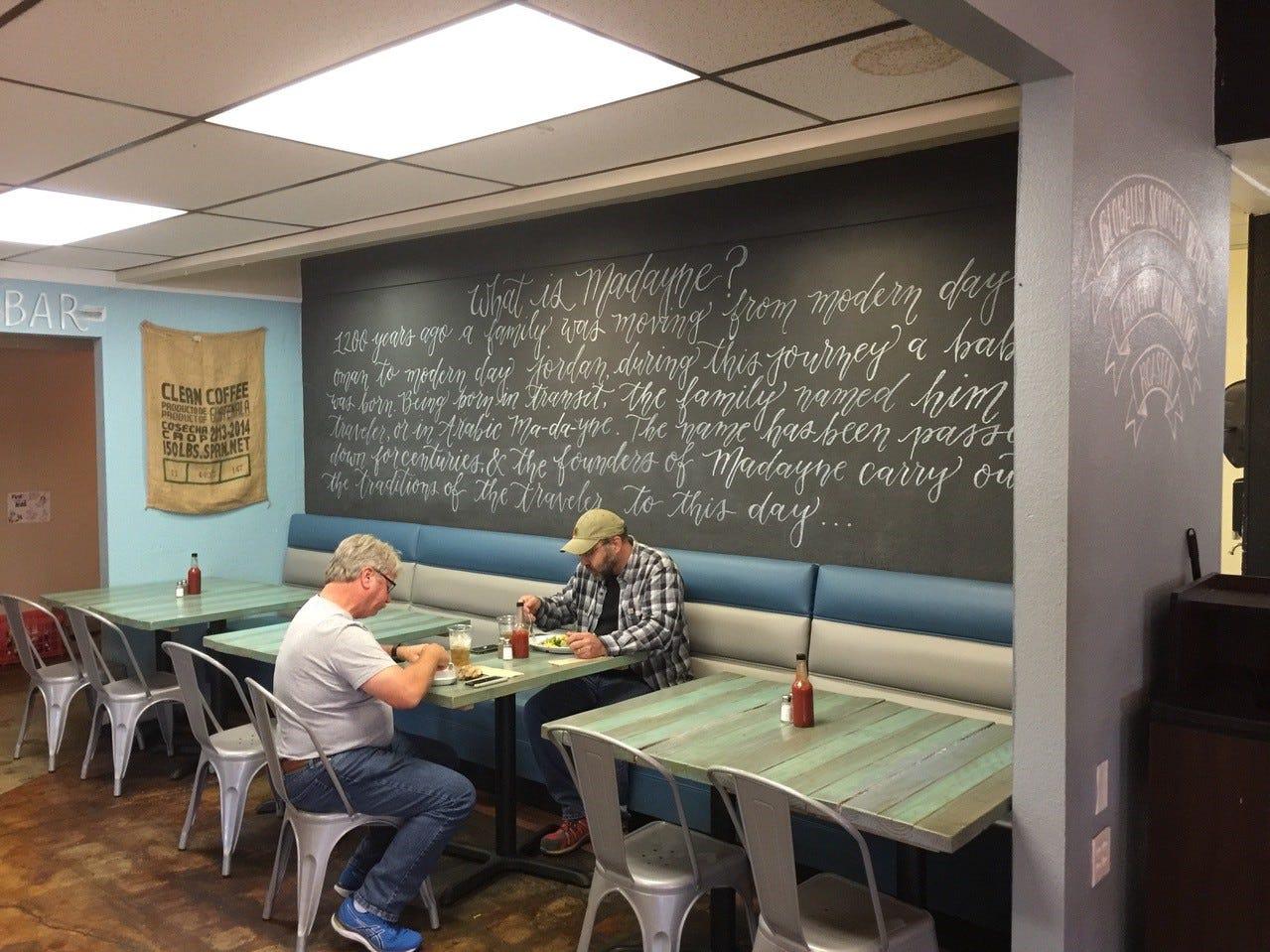 Sample of the decor at Madayne's Eureka Way restaurant.