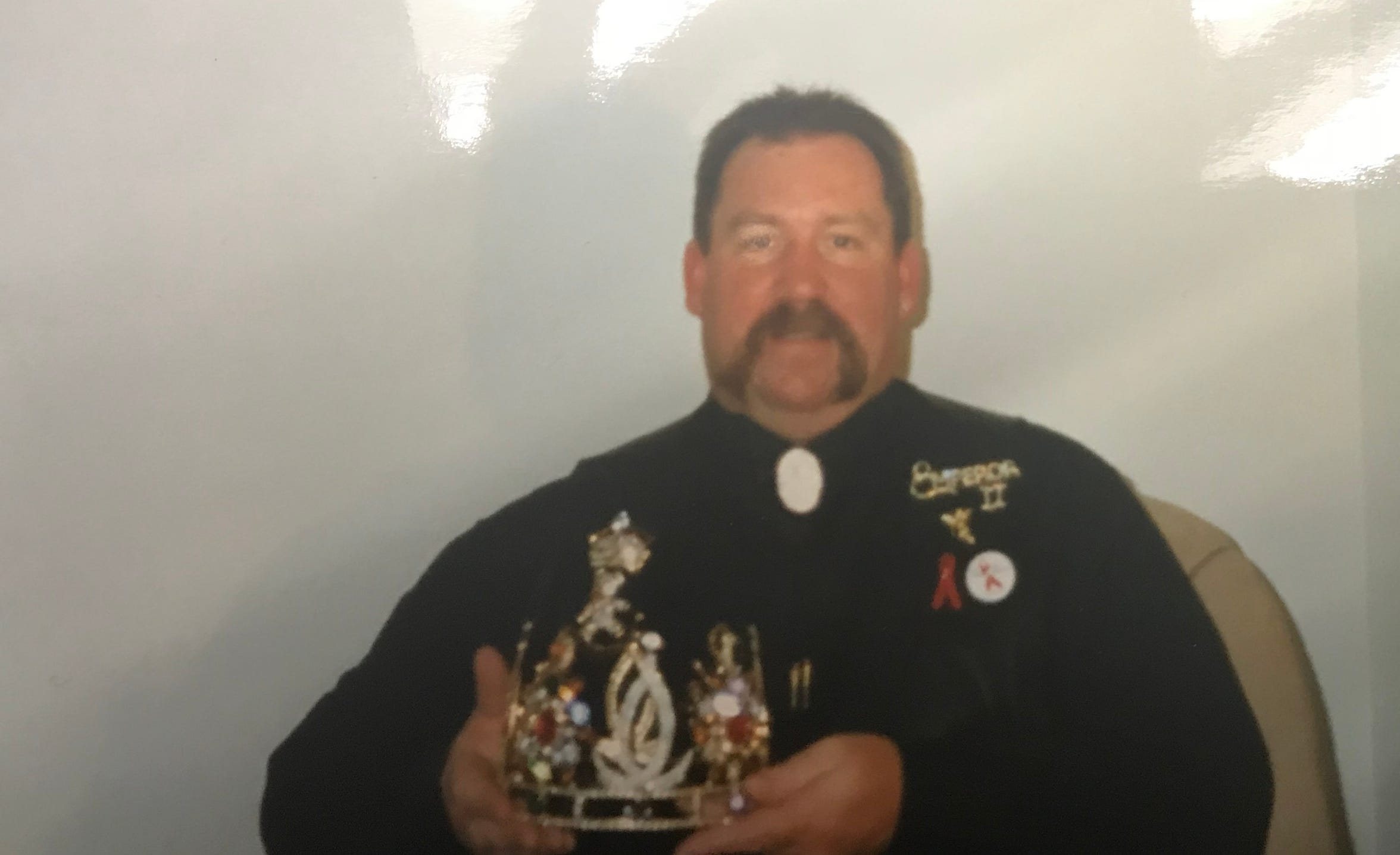 Tom Hinton with his crown as he steps into the role of Emperor II with The Imperial Heart of the Golden Circle Empire.