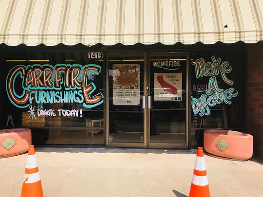 CARR Furnishings storefront on the Redding  Downtown Mall Promenade.