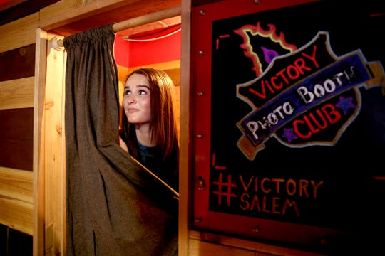 Statesman Journal entertainment reporter Abby Luschei visits Victory Club as one of the top Instagram-friendly spots in Salem on Friday, Aug. 24, 2018.