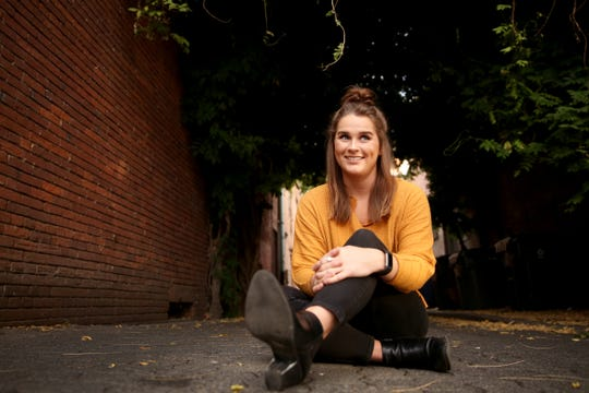 Statesman Journal entertainment reporter Abby Luschei names downtown Salem one of her top Instagram sports in the city. Photographed on Wednesday, Sep. 12, 2018.