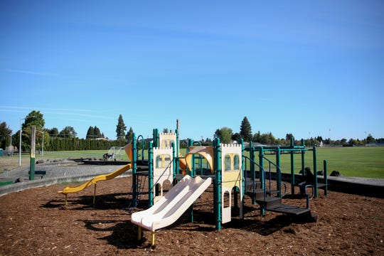 The McKay School Park jungle gym is pictured on Thursday, Sep. 20. Salem Parks Foundation is raising money to replace the 40-year old playground with all new equipment.