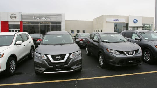 The exterior of the former Russ Darrow Nissan/VW franchise as seen, Thursday, September 20, 2018, in Sheboygan, Wis.  The dealer ship was purchased by the Van Horn Group this week.