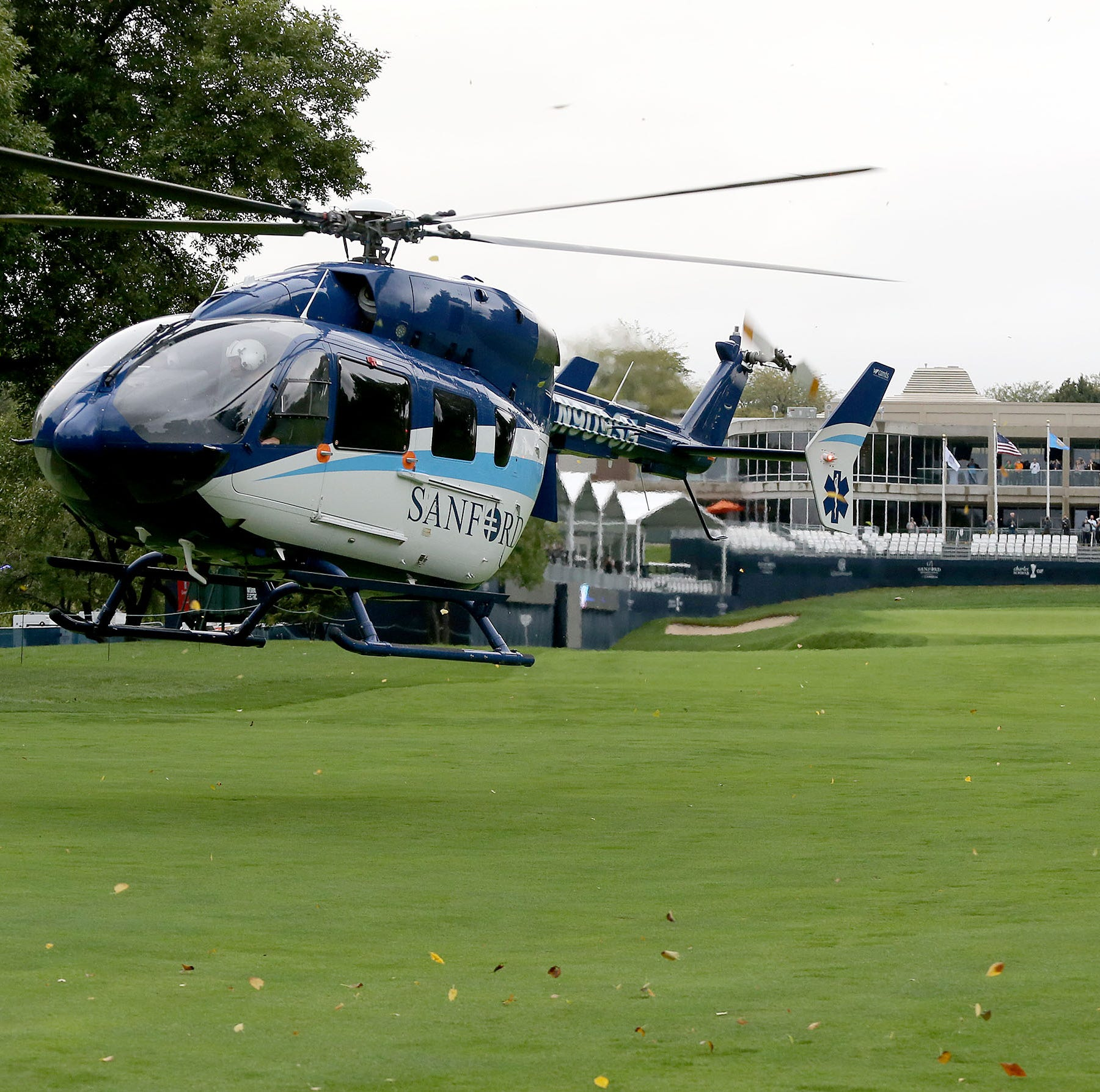 Sanford uses helicopter to help dry Minnehaha Country Club