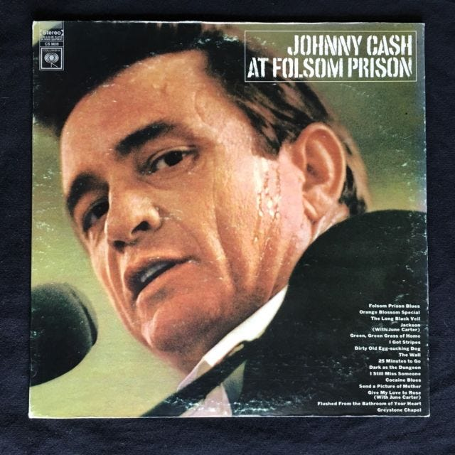 Johnny Cash's performance at Folsom Prison in California was recorded 50 years ago.