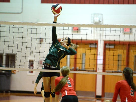 Wilson Memorial's Olivia Bower finished with 8 kills, 5 blocks and 20 assists in the Hornets 5-set win over East Rockingham Thursday.