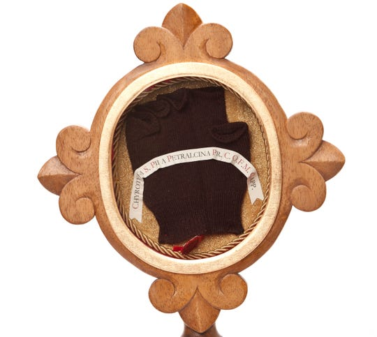 A glove is one of the relics of Saint Pio of Pietrelcina which is coming to St. Cloud at the end of September. Better known as Padre Pio, the saint died in 1968 and was canonized by Pope John Paul II in 2002. The event is part of a historic U.S. tour commemorating the 50th anniversary of his death.