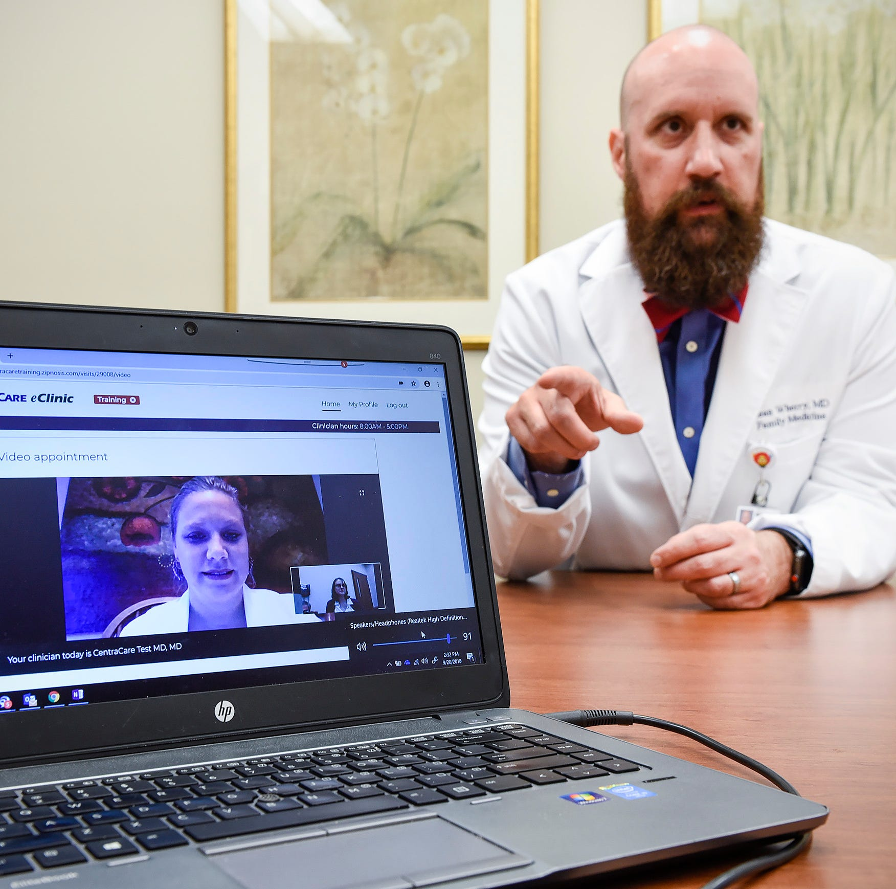 The new house call: CentraCare doctors treat patients via video-chat and phone