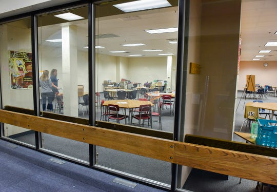 Areas of the former district administrative offices have been converted to classrooms shown Friday, Sept. 21, at Apollo High School.