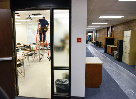 Final work is being completed Friday, Sept. 21, at Apollo High School with all of the students back on Monday. A fire damaged the school and students have been alternating days at the school and working remotely.