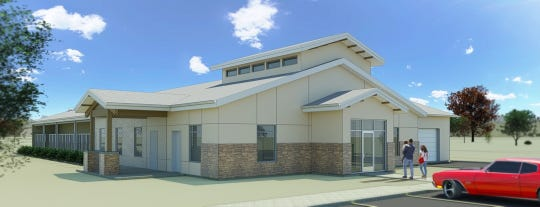 An artist's rendering of the new Cedar City animal shelter set to open in 2019.