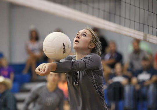 Aucilla's Olivia Walton sets a ball as Aucilla Christian plays at Maclay in a high school volleyball game on Thursday, Sept. 20, 2018.