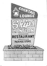 The Ship's Lantern Restaurant advertisement.