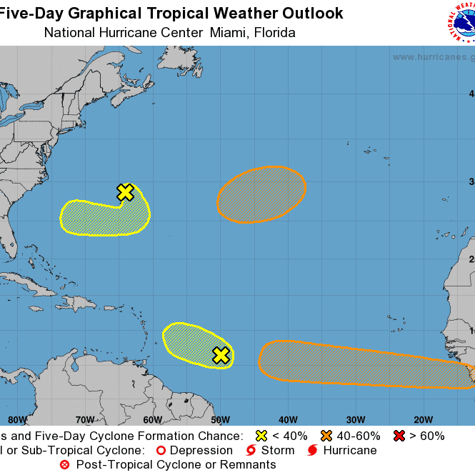 Atlantic crowded with tropical weather activity