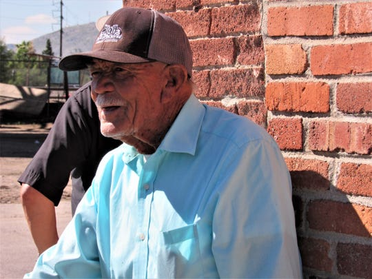 Chihuahuita resident Jose Castañon, 90, watched the pro-immigration protest Friday.
