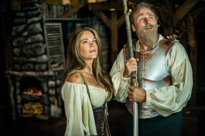 "Laura DekKers plays Aldonza and Scott White plays Don Quixote in Ojai Performing Arts Theater's ""Man of La Mancha,"" which runs through Oct. 7."