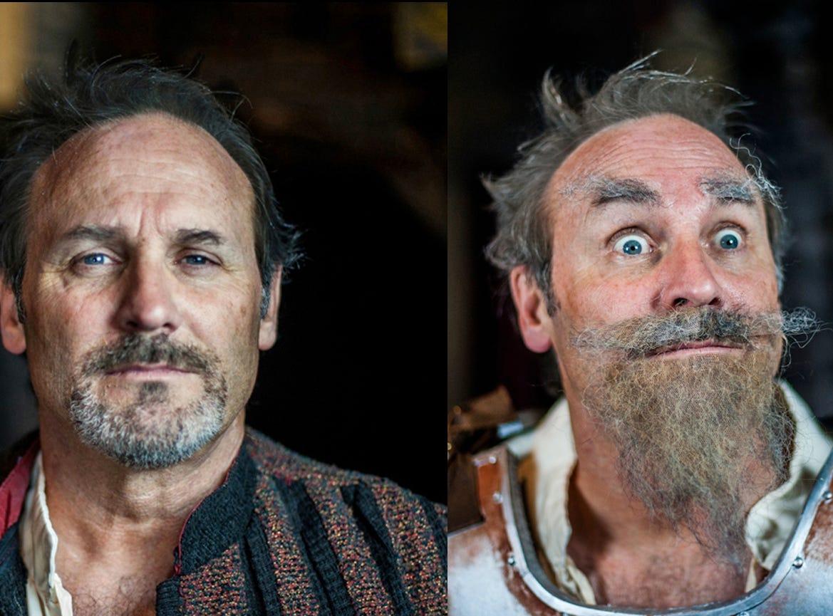"Scott White as Don Quixote in Ojai Performing Arts Theater's ""Man of La Mancha,"" which runs through Oct. 7."