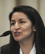 Sofia Rubalcava participates in a forum for Ventura City Council candidates in District 1.