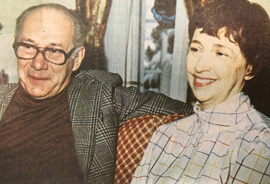 Dan and Maryanne Norton in 1988, taken at their Hamilton Street home.
