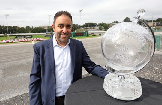 Alex Dadoyan, executive director of the Standardbred Owners Association of New York, at Yonkers Raceway Sept. 20, 2018.