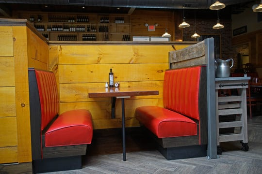 """Owners of the new Touch of Italy location on Rt. 202 are calling one of their table areas a """"smooching booth""""."""