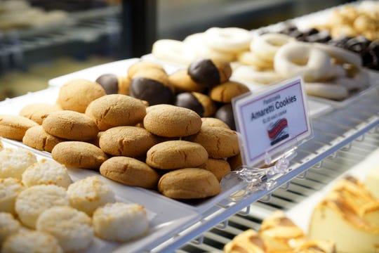 Pastries made in house at the Touch of Italy's  Sussex County location are ready for customers at their new location in the former Bella Coast Italian Kitchen on Rt. 202.