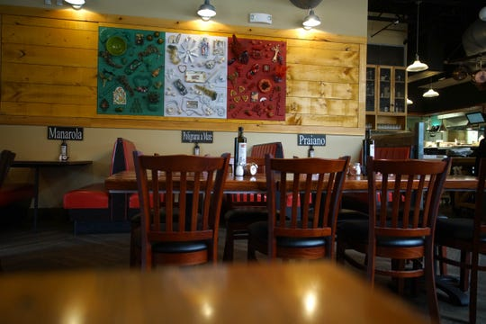 Some of the new decor at Touch of Italy, a popular Sussex County Italian chain that is opening its first New Castle County location in the former Bella Coast Italian Kitchen on Rt. 202.