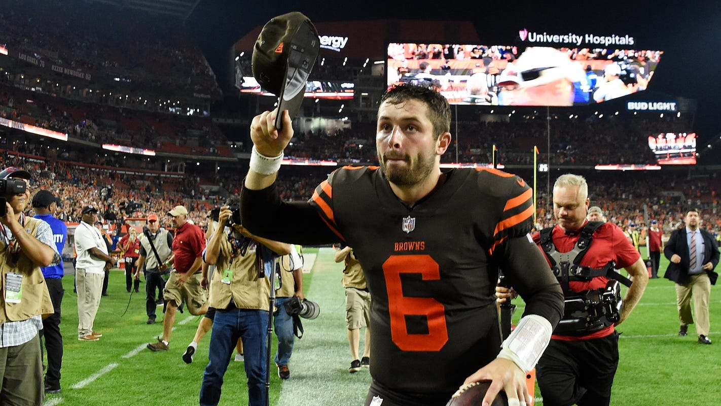 f3815abb1 Browns QB Baker Mayfield on Colin Cowherd   I don t care about him