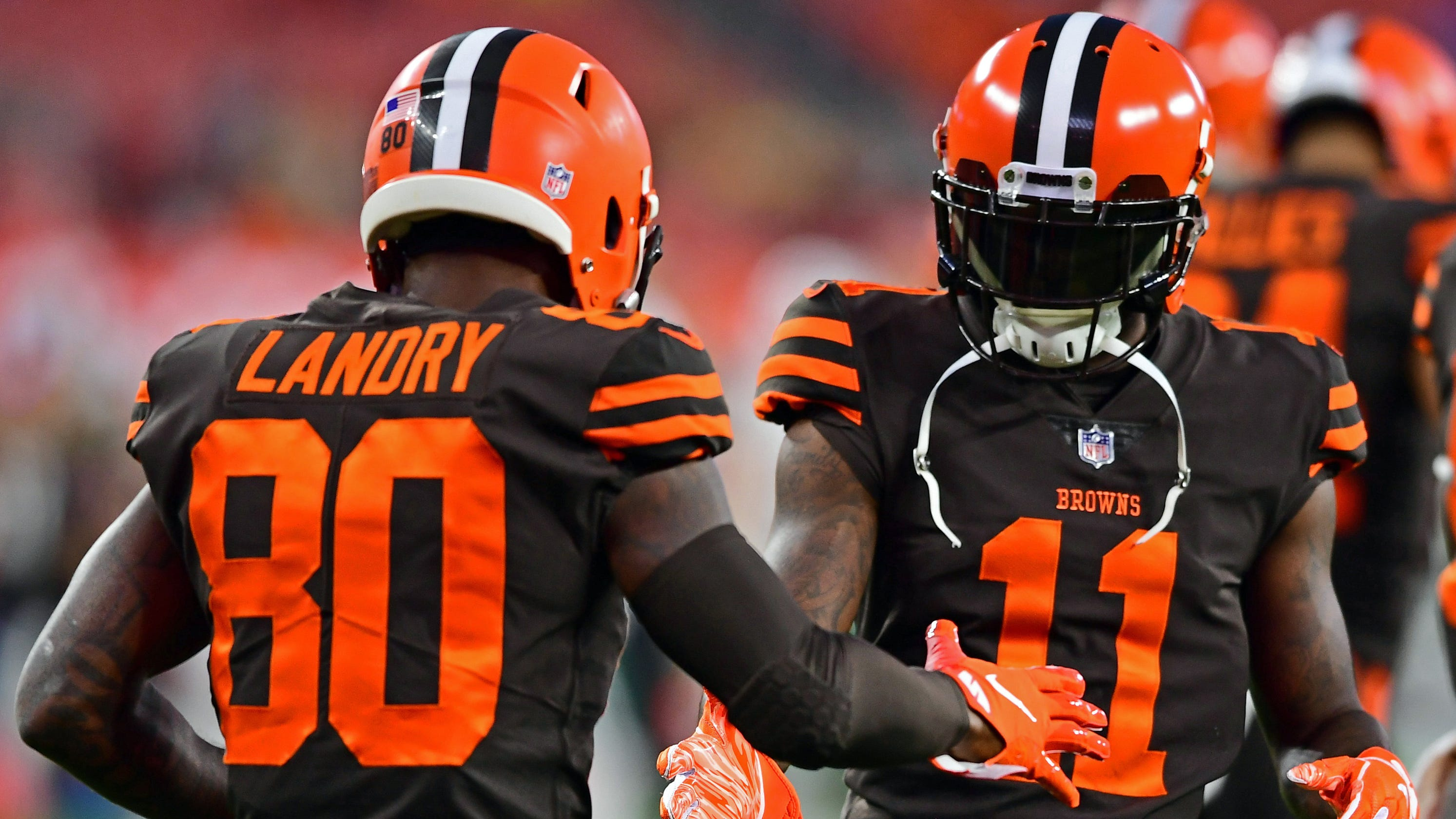 795cbb698 Cleveland Browns finally wear Color Rush uniforms they ve waited years to  debut