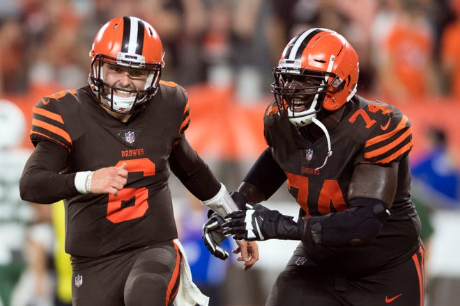 Rookie QB Baker Mayfield sparked Cleveland to a long-awaited victory Thursday night.