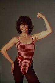 Jane Fonda became a fitness phenomenon with the 'Jane Fonda's Workout' book and video in the early 1980s.