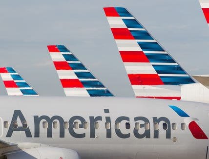 American Airlines jets at Dallas/Fort Worth International Airport on Oct. 14, 2016.