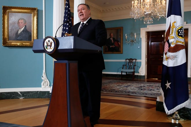 Secretary of State Mike Pompeo on Sept. 17, 2018.