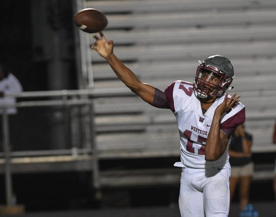 Westside QB Elijah Harper has put two solid weeks together for the Rams. He leads Westside against Woodmont this week.