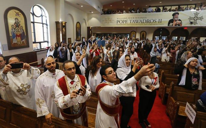 Pope Tawadros Ii Visits St Minas Coptic Orthodox Church In Holmdel