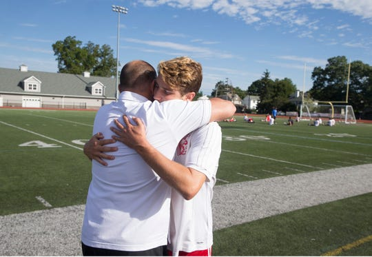 Rumson-Fair Haven soccer coach Sean Reid has a son who plays for Ocean Township High School, Sean Reid Jr. The two were matched up against one another in a game at Rumon-Fair Haven High School. Rumson, NJSaturday, September, 22, 2018