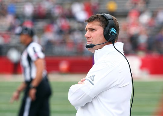 Rutgers Scarlet Knights head coach Chris Ash vs Buffalo Bulls at HighPoint.com Stadium in Piscataway. September 22, 2018, Piscataway, NJ