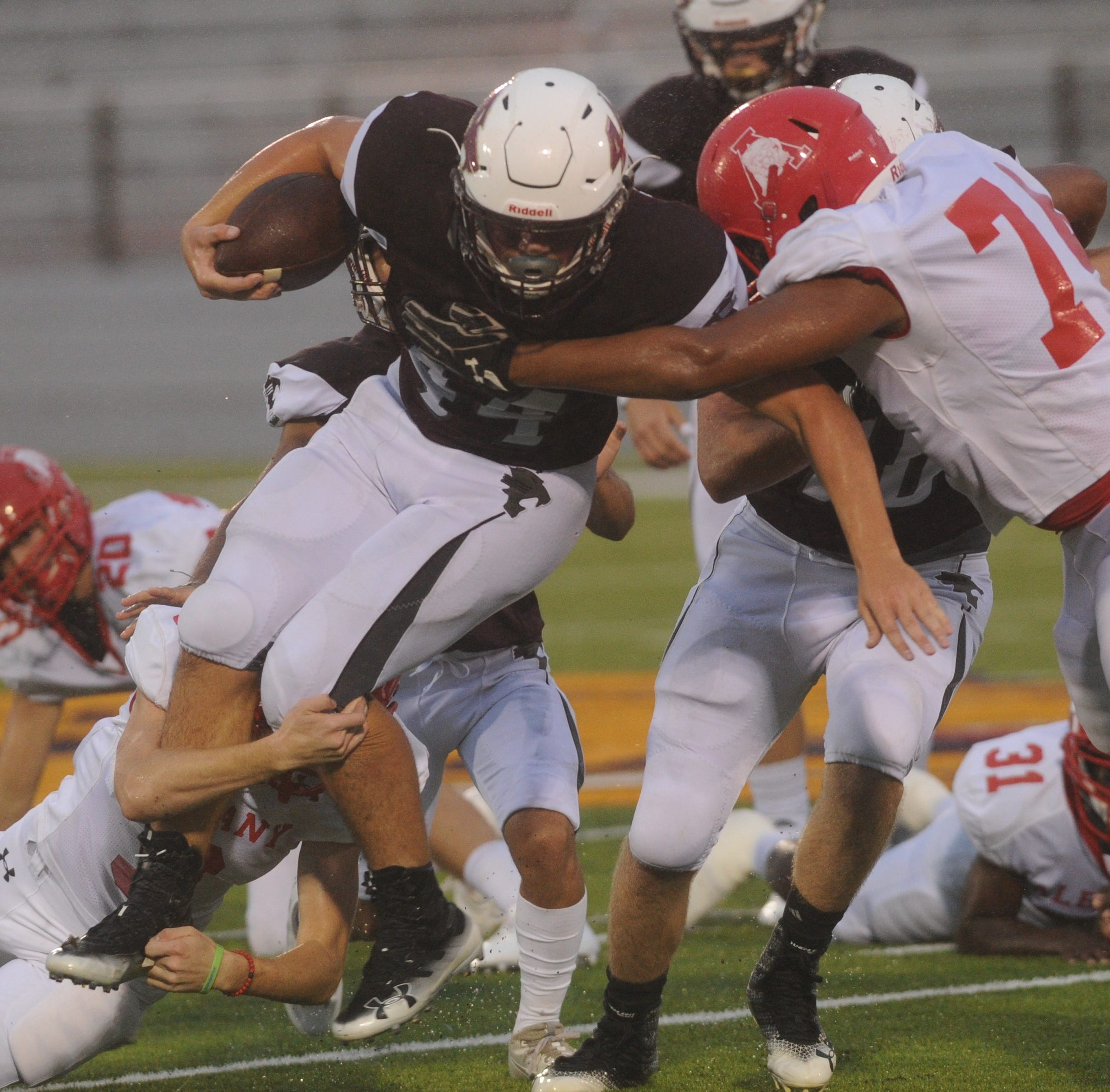 Hawley rushing attack too much for injury-plagued Albany on rainy Friday night