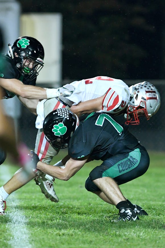 Mountain Heritage defeated Hendersonville 22-21 in their game at Mountain Heritage High School in Burnsville on Sept. 21, 2018.