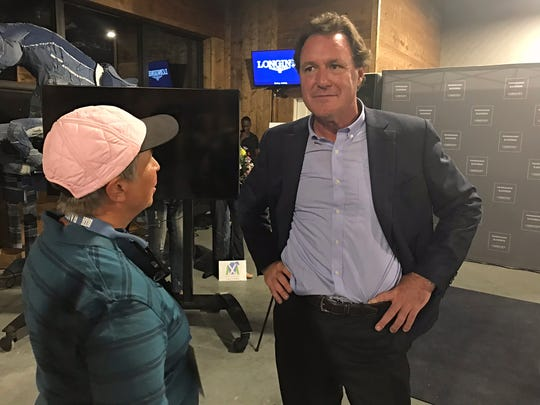 Mark Bellissimo, managing partner of Tryon Equestrian Partners, during a media event Friday Sept. 21, 2018 at the Tryon International Equestrian Center.