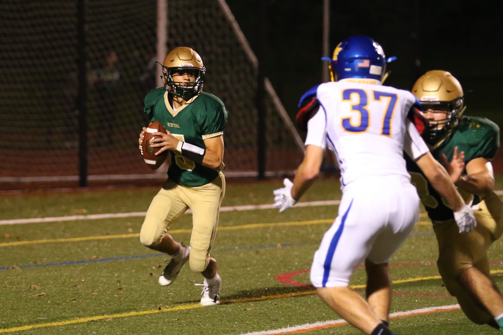 Quarterback J.P. Sacco and Vestal will face undefeated Indian River on Friday night.